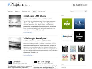 Platform, un template versatile